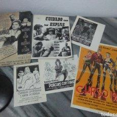 Cine: LOTE DE CINE ,CARTELITOS Y PROTOTIPO DE CARTEL DE CINE,PELICULAS DE EPOCA. Lote 278949333