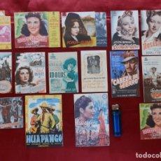 Cine: 26- 15 PROGRAMAS DE CINE DOBLES, AÑOS 40. Lote 279517228