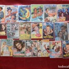 Cinema: 43/ LOTE DE 20 PROGRAMAS DE CINE SENCILLOS, AÑOS 40-50. Lote 279521893