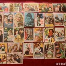 Cinema: 45/ LOTE DE 30 PROGRAMAS DE CINE SENCILLOS, AÑOS 40-50. Lote 279522398