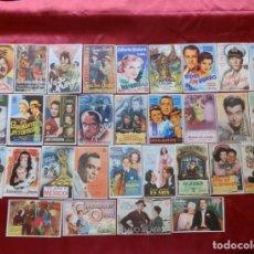 Cinema: 49/ LOTE DE 30 PROGRAMAS DE CINE SENCILLOS, AÑOS 40-50. Lote 279523098