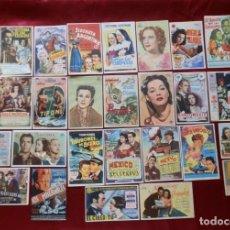 Cinema: 51/ LOTE DE 30 PROGRAMAS DE CINE , AÑOS 40-50, ORIGINALES. Lote 279523383