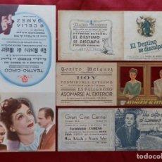 Cinema: 63/ LOTE DE 4 PROGRAMAS DE CINE DOBLES, AÑOS 40 (MEDIDAS DEL MAS GRANDE 27X14 CM.). Lote 279550898