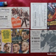 Cinema: 65/ LOTE DE 4 PROGRAMAS DE CINE DOBLES, AÑOS 40. Lote 279552438