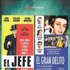 Cine: LIBRETO EL GRAN DELITO / EL JEFE - KURT NEUMANN / BYRON HASKIN. Lote 280123253