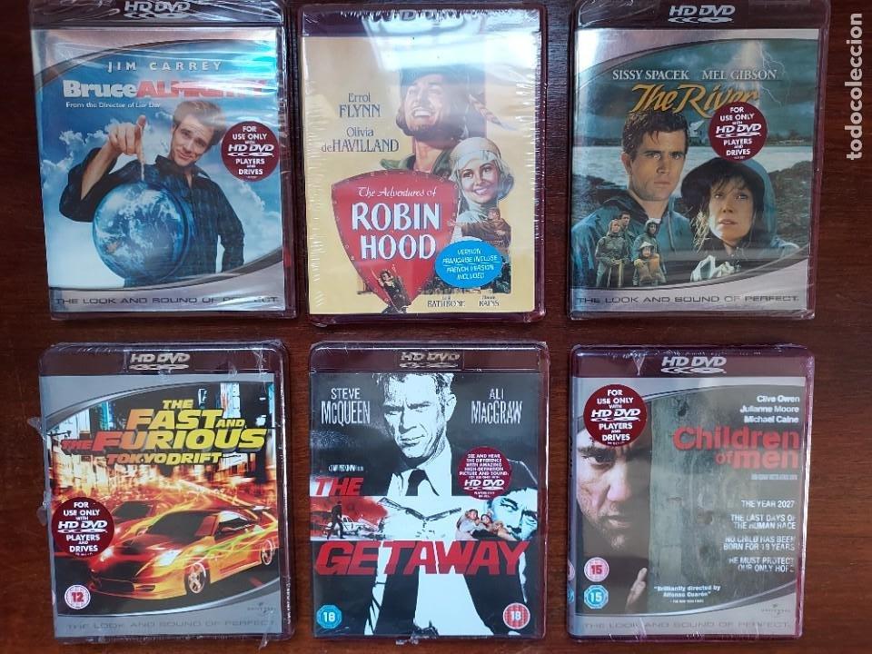 LOTE 6 HD-DVD PRECINTADOS EN VERSIÓN ORIGINAL ROBIN HOOD, FAST FURIOUS, CHILDREN OF MEN ETC (Cine - Varios)