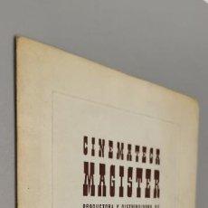 Cine: EL CINE CATÓLICO: MAGISTER ES UNA PRODUCTORA Y DISTRIBUIDORA DE PELÍCULAS FUNDADA EN 1945. Lote 287736753