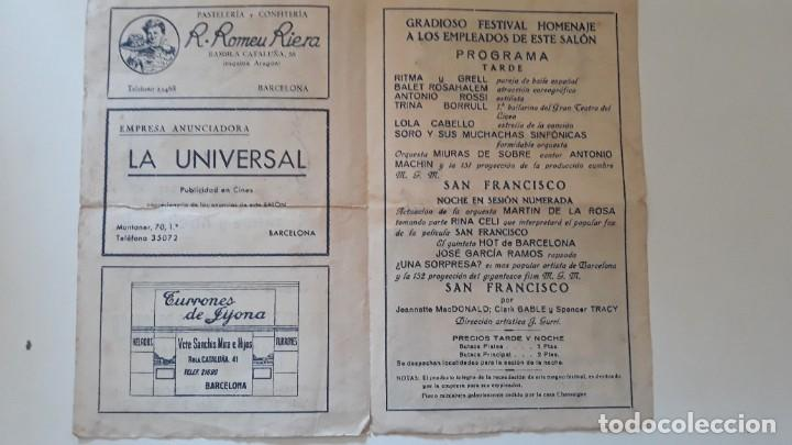Cine: Programa de mano Salón Kursaal. Acontecimiento artístico cinematográfico. Grandioso festival. 1941 - Foto 2 - 288110828
