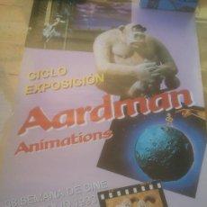 Cine: CARTEL 38 SEMANA INTERNACIONAL DE CINE VALLADOLID.AARDMAN ANIMATIONS.1993. Lote 288737403