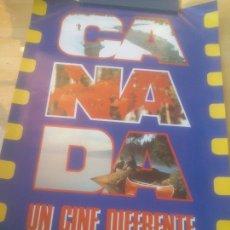 Cine: CARTEL 38 SEMANA INTERNACIONAL DE CINE VALLADOLID.CANADA UN CINE DIFERENTE.1993. Lote 288737493