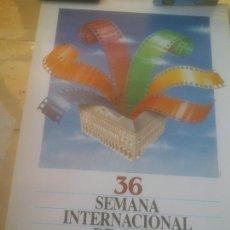 Cine: CARTEL 36 SEMANA INTERNACIONAL DE CINE VALLADOLID.1991. Lote 288737708