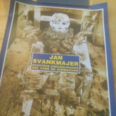 Cine: CARTEL JAN SVANKMAJER SEMANA INTERNACIONAL DE CINE VALLADOLID.. Lote 288738118