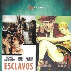 Cine: LIBRETO ESCLAVOS DE LA TIERRA / EL ÍDOLO - MICHAEL CURTIZ. Lote 289199373