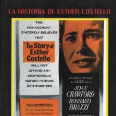 Cine: LIBRETO LA HISTORIA DE ESTHER COSTELLO - DAVID MILLER. Lote 289500553