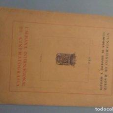 Cine: PROGRAMA I SEMANA INTERNACIONAL DE CINEMATOGRAFÍA AYUNTAMIENTO DE MADRID AÑO 1954. Lote 290133343