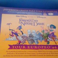 Cine: EL JOROBADO DE NOTRE DAME, FLYER PUBLICITARIO (A4). Lote 290145328