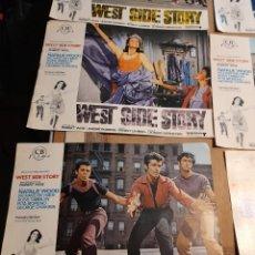 Cine: LOTE DE 8 CARTELES DE WEST SIDE STORY ( NATALIE WOOD, RITA MORENO, GEORGE CHAKIRIS). Lote 293453558