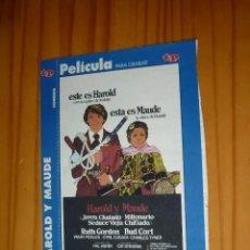 Cine: CARÁTULA DE PELÍCULA EN VHS DE LA REVISTA TELEPROGRAMA. Lote 293824763