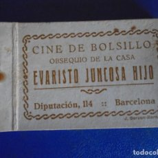 Cine: (PUB-211007)CINE DE BOLSILLO-CINE MANUAL-PUBLICIDAD CHOCOLATES EVARISTO JUNCOSA-AÑOS 20-GATO FELIX. Lote 293916973