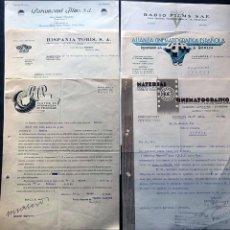Cine: CINE / 6 CARTAS COMERCIALES AÑOS 1939 - 1940 / PARAMOUNT - HISPANIA - HUET - ALIANZA - RADIO FILMS -. Lote 294929593