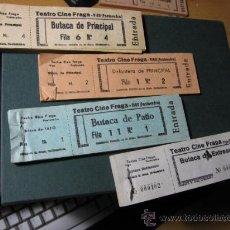 Cinéma: VIGO TEATRO CINE FRAGA - LOTE DE 12 ENTRADAS APROX 1960/70 - 4 CLASES , 3 DE CADA. Lote 86272208