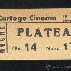 Cinéma: ENTRADA CINE / CARTAGO CINEMA / IBIZA / 1980. Lote 23942926