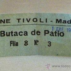 Cine: ENTRADA, CINE, TRIVOLI, BUTACA DE PATIO, Nº 3, 1986. Lote 24973492
