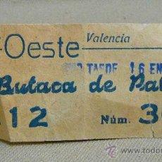 Cine: ENTRADA, CINE, OESTE, BUTACA DE PATIO, Nº 30, 1983,. Lote 24973551