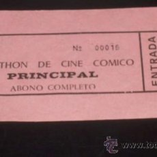 Cine: ENTRADA CINE MARATHÓN DE CINE CÓMICO - LEÓN. Lote 23950126