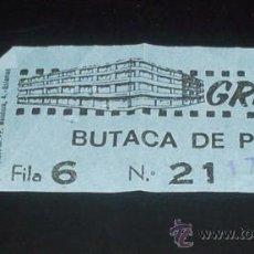 Cine: ENTRADA CINE -TEATRO GRAN VIA - SALAMANCA - 1979. Lote 26955111