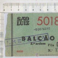 Cine: ENTRADA DE CINE SAO LUIZ EVORA LISBOA PORTUGAL 1944. Lote 26221605
