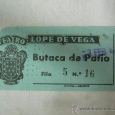 Cine: AÑOS 50, ENTRADA DEL TEATRO LOPE DE VEGA.- MADRID, OBRA EN REVERSO. . Lote 27831623