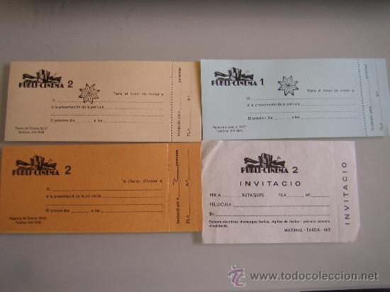 LOTE 4 ENTRADAS INVITACIONES PARA EL CINE PUBLI DE BARCELONA PASEO DE GRACIA (Cine - Entradas)