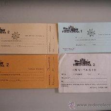 Cine: LOTE 4 ENTRADAS INVITACIONES PARA EL CINE PUBLI DE BARCELONA. Lote 28171435