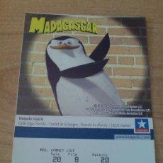 Cine: ENTRADA CINE PUBLICIDAD MADAGASCAR. Lote 28458762