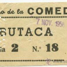 Cine: 1 ENTRADA DE CINE AÑOS 50, TEATRO DE LA COMEDIA, MADRID. Lote 31255384