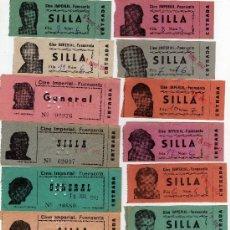 Cine: 15 ENTRADAS CINE IMPERIAL 1942,DE FUENSANTA ALBACETE. Lote 31524050