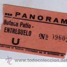 Cine: ENTRADA DE CINE PANORAMA. BUTACA PATIO ENTRESUELO.1962. Lote 32317802
