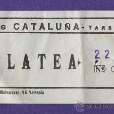 Cine: ENTRADA - CINE CATALUÑA - PLATEA - TARRAGONA - TGN - USADA - AÑO 1975. Lote 32743774