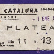 Cine: ENTRADA - CINE CATALUÑA - PLATEA - TARRAGONA - TGN - USADA - AÑO 1975. Lote 32743780