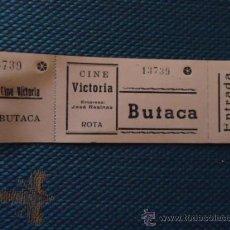 Cinéma: ANTIGUA ENTRADA DE CINE VICTORIA O CINE ROYAL CINEMA ROTA CADIZ SILLON BUTACA PALCO ETC . Lote 36823198