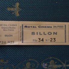 Cinéma: ANTIGUA ENTRADA DE CINE VICTORIA O CINE ROYAL CINEMA ROTA CADIZ SILLON BUTACA PALCO ETC . Lote 36823317