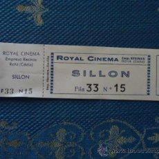 Cinéma: ANTIGUA ENTRADA DE CINE VICTORIA O CINE ROYAL CINEMA ROTA CADIZ SILLON BUTACA PALCO ETC . Lote 36823364