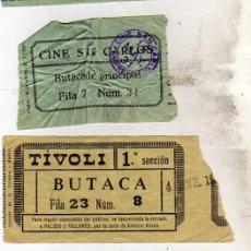 Cinéma: LOTE ENTRADAS DE CINE: CINE BARCELO ENTRADA PREFERENTE, SAN CARLOS Y TIVOLI. AÑOS 30. Lote 38169625