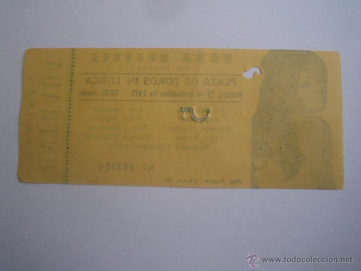 Cine: entrada original sara montiel en lorca murcia septiembre 1972 los 5 ibericos los aguilas - Foto 2 - 41364580