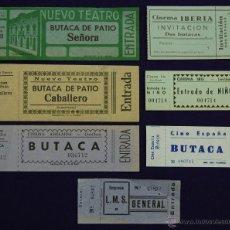 Cine: 7 ENTRADAS DE CINE DIFERENTES. AÑOS 40. ENTRADA.. Lote 42596749
