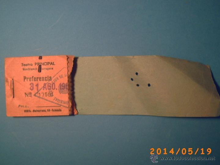 Cine: TACO DE ENTRADAS TEATRO PRINCIPAL MONTBLACH TARRAGONA-SELLO INSPECCIÓN MENORES- 1969 - Foto 2 - 43395535