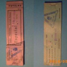 Cine: TACO DE ENTRADAS TEATRO PRINCIPAL MONTBLACH TARRAGONA-SELLO INSPECCIÓN MENORES- 1969. Lote 43395596