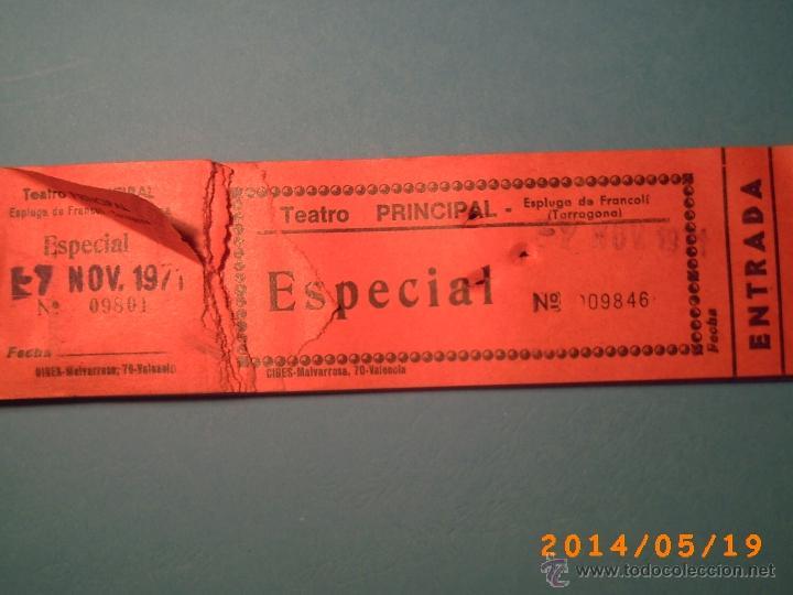 Cine: TACO DE ENTRADAS TEATRO PRINCIPAL MONTBLACH TARRAGONA-SELLO INSPECCIÓN MENORES- 1971 - Foto 2 - 43395612