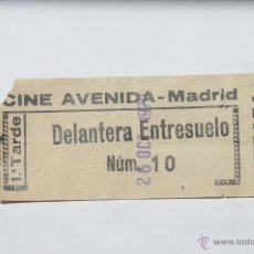 Cine: ENTRADA CINE AVENIDA DE MADRID. 26 OCTUBRE 1979.. Lote 43556247